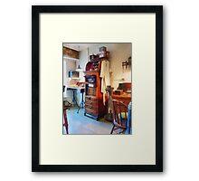 Dental Lab and Lab Coat Framed Print