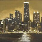 Painting Of Chicago by Remeldo93