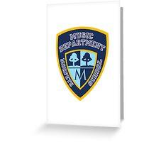 Morpeth School Music Department Logo Greeting Card