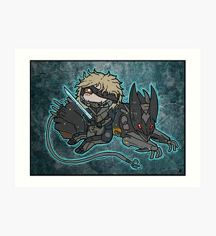 Raiden and Wolf Art Print