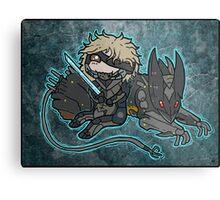 Raiden and Wolf Metal Print
