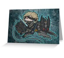Raiden and Wolf Greeting Card