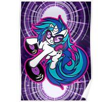 Vinyl Scratch DJ PON3 Spinning Poster