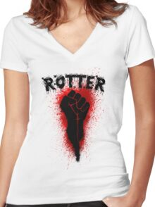 Rotter  / Zombie Women's Fitted V-Neck T-Shirt