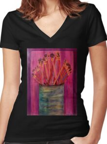 A Little Brush Work Women's Fitted V-Neck T-Shirt