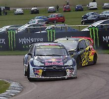 Timur Timerzyanov (Citroen DS3 Supercar) and Tanner Foust (Ford Fiesta Supercar) by motapics