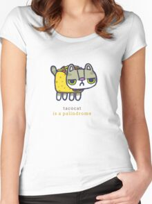 Tacocat is a palindrome Women's Fitted Scoop T-Shirt
