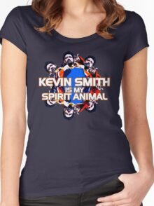 Kevin Smith Is My Spirit Animal Women's Fitted Scoop T-Shirt