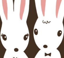 Bunnies Wedding Congratulations Sticker