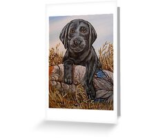 Lab Pup Greeting Card