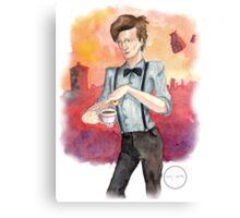 Tea, Jammy Dodgers & Daleks Canvas Print