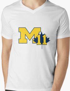 Nik Stauskas #11 UofM T-Shirt  Mens V-Neck T-Shirt