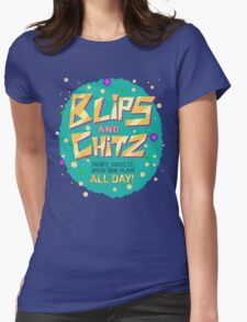 Rick & Morty - Blips and Chitz! Womens Fitted T-Shirt