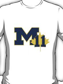 Nik Stauskas #11 UofM T-Shirt (Reverse) T-Shirt