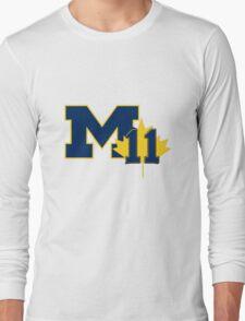 Nik Stauskas #11 UofM T-Shirt (Reverse) Long Sleeve T-Shirt