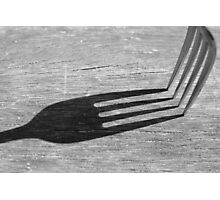 Fork Shadow Photographic Print