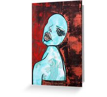Turquoise Girl Greeting Card