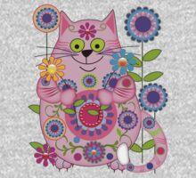 Cute Flower Power Cat Kids Clothes