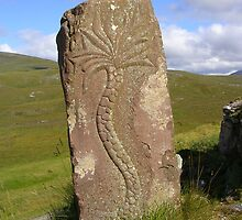 Sculpture on Knockan Crag by lezvee