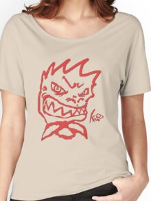 Fade red Rex smile  Women's Relaxed Fit T-Shirt