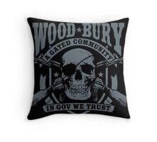 Woodbury Black Throw Pillow