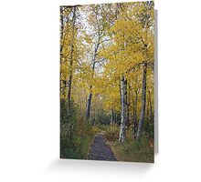 Soft Yellow Trees Greeting Card