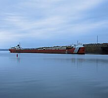 Shipping Barge  by Tina Hailey