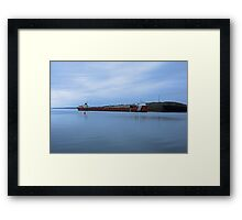 Shipping Barge  Framed Print