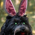 Zombie Puppy being Bunny by GolemAura