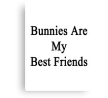 Bunnies Are My Best Friends  Canvas Print