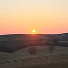 Sunset Over Wolstonbury Hill by Matthew Floyd