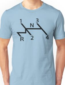 vw shift diagram in black T-Shirt