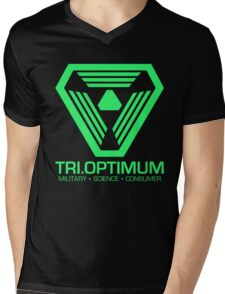 TriOptimum Corporation Mens V-Neck T-Shirt