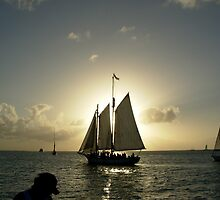Photograph Of Sailing Yacht  by Albert  Robbins