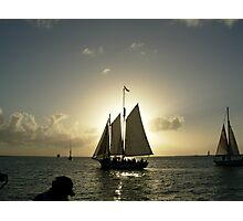 Photograph Of Sailing Yacht  Photographic Print