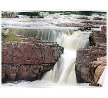 Waterfall Sioux Falls South Dakota Poster