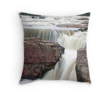 Waterfall Sioux Falls South Dakota Throw Pillow