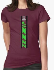 Zipper Womens Fitted T-Shirt