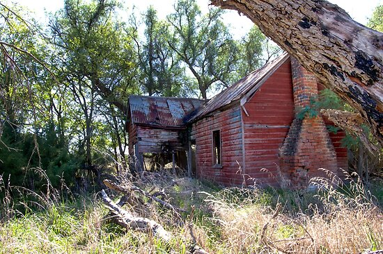 In need of some Love  House Ruins  Rural NSW Australia  by Kym Bradley