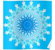 Mystical Snow Cloud Mandala Poster