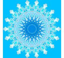 Mystical Snow Cloud Mandala Photographic Print