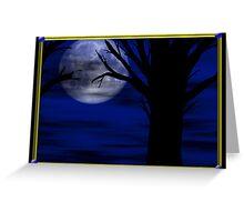 Moon Night Card Greeting Card