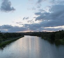 From the Footbridge, The Barwon River 'Geelong' Vic. Aust. by Rita Blom