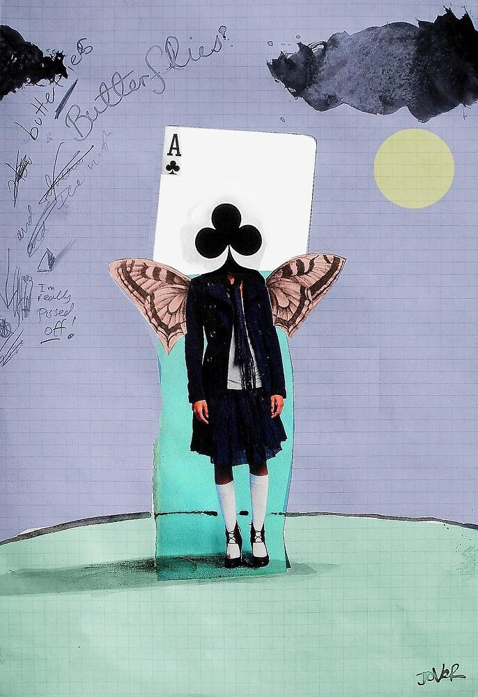 lucky butterfly girl by Loui  Jover