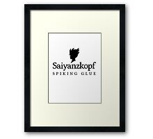 Super Saiyan Hair Gel Framed Print
