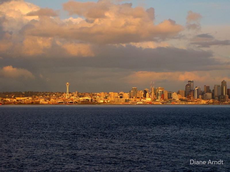 Seattle In Gold...Seattle, Washington by trueblvr