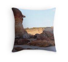 Anglesea cliffs Throw Pillow