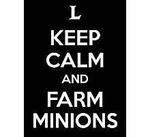 Keep Calm and Farm Minions Photographic Print