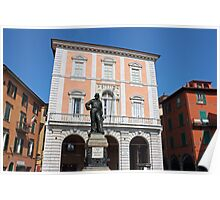 Piazza Garibaldi in Pisa Poster