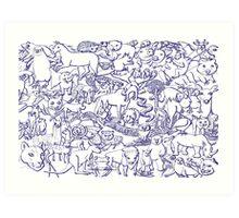 World Wildlife Art Print